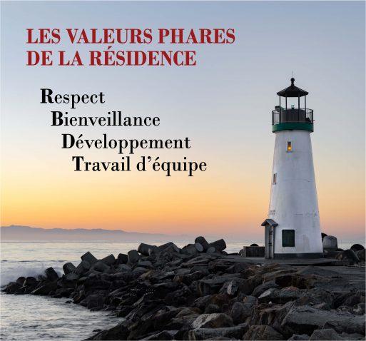 Les valeurs phares de La Résidence Berthiaume-Du Tremblay
