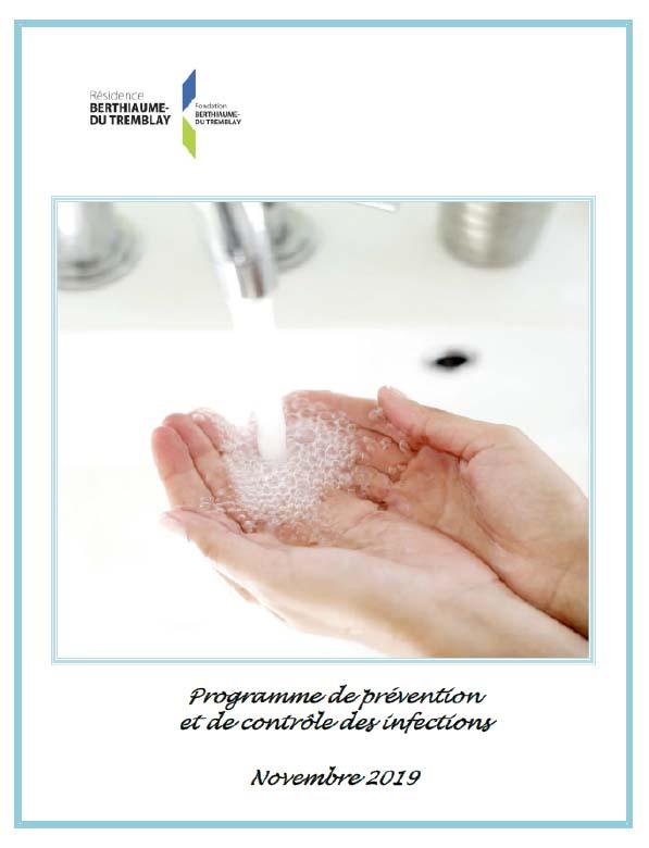 Programme de prévention et de contrôle des infections Résidence Berthiaume-Du Tremblay