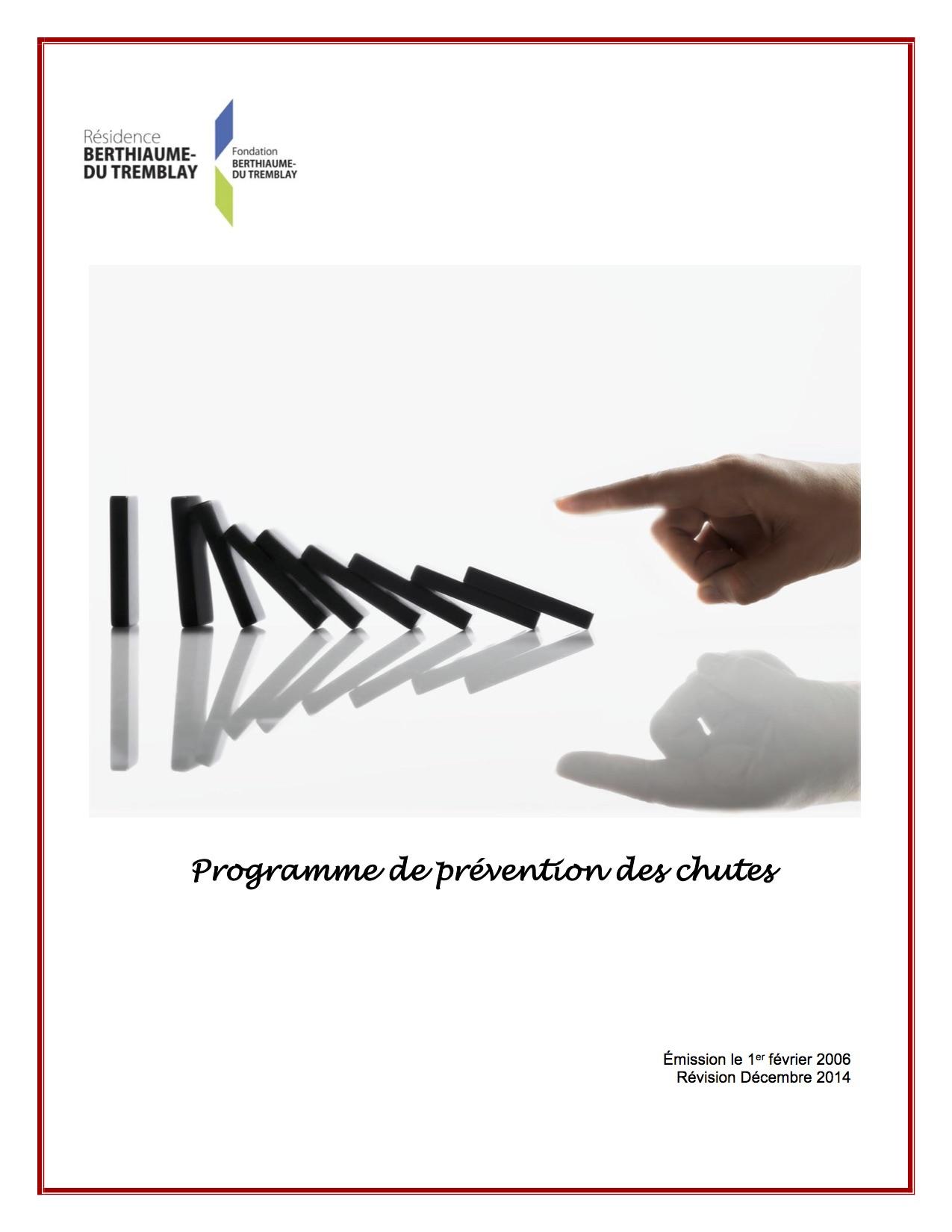 Programme de prévention des chutes Résidence Berthiaume-Du Tremblay