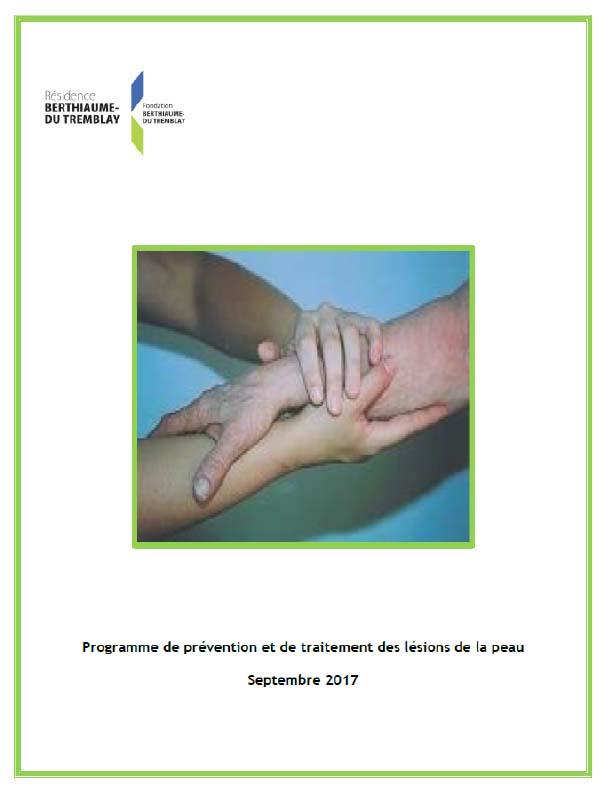 Programme de prévention et de traitement des lésions de la peau Résidence Berthiaume-Du Tremblay